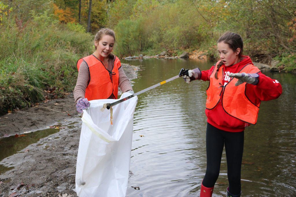 Two teens bag their latest litter find